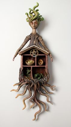 Haven, Mixed Media Wall Sculpture by Christine K. Harris
