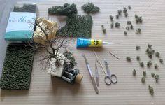 Baumbau---Bau_einer_Eiche_nach _der_Drahtdrillmethode Train Table, Wargaming Terrain, Miniature Trees, Tabletop Rpg, Wire Art, Classic Toys, Model Trains, Decoration, Dremel