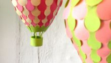 six different hot air balloons to make from paper