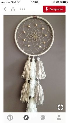 Etsy - Shop for handmade, vintage, custom, and unique gifts for everyone Dream Catcher Craft, Large Dream Catcher, Yarn Crafts, Diy And Crafts, Arts And Crafts, Boho Diy, Bohemian Decor, Dreamcatcher Crochet, Dreams Catcher
