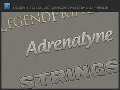 6 Elegant Text Styles - free