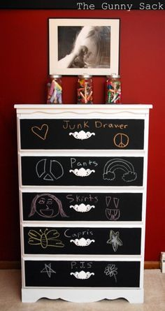 Cute way to label dressers for kids!
