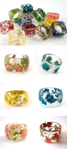 Handmade Resin Jewelry with Real Flowers by Sumner Smith