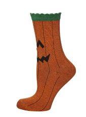 Halloween Orange Toe Pumpkin Socks