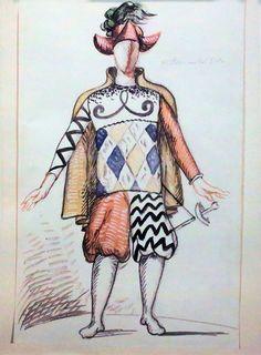 Giorgio de Chirico – Puritano per I Puritani di V Bellini, 1933
