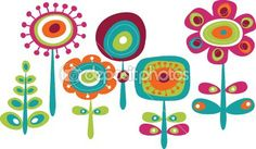 Illustration of Cute floral doodle elements vector art, clipart and stock vectors. Vector Clipart, Vector Art, Image Vector, Eps Vector, Vector Stock, Floral Doodle, Illustration Blume, Clip Art, Flower Clipart