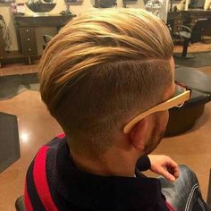 Blonde Quiff Undercut Hairstyle Haircut For Men