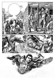 Bruises and Black Eyes, Superman page by Lee Bermejo Comic Book Artists, Comic Books, Lee Bermejo, Top Cow, Comic Page, Superman, Dc Comics, Marvel, Tumblr