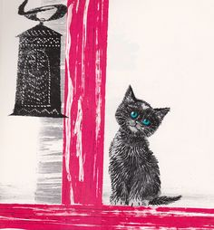 The Valentine Cat by my vintage book collection (in blog form), via Flickr