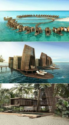 Isla Pasión Luxury hotel inspired Mayan architecture is part of - Isla Pasión is a concept project designed by Sordo Madaleno Architect to create a luxury hotel in Mexico that has an unique architecture is based on Mayan elements Hotel Design Architecture, Floating Architecture, Bamboo Architecture, Unique Architecture, Futuristic Architecture, Residential Architecture, Architecture Panel, Building Architecture, Architecture Portfolio