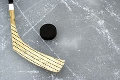 Eazywallz  - Hockey stick and puck on the ice Wall Mural, $129.00 (http://www.eazywallz.com/hockey-stick-and-puck-on-the-ice-wall-mural/)