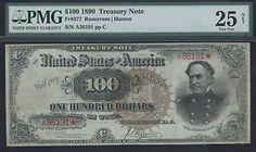 $100 1890 Watermelon Treasury Coin Note PMG VF25 Farragut Portrait | eBay