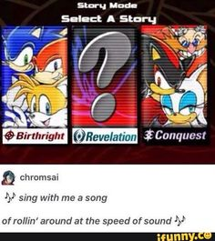 first i read the song in the tune of lost in thoughts all alone then suddenly it became sanic