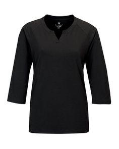 Women's Knit Elbow Tee Sleeve(95% Cotton 5% Spandex) Tri mountain LB134 #Cotton #Spandex  #ElbowTee