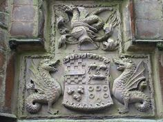Skipton castle - Yorkshire - Coat of Arms with the Clifford Wyverns