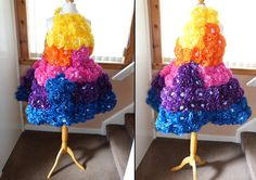 Art Research: Final Dress, Tissue paper, Polyester/cotton material