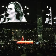Adele performing at 'Mt Smart Stadium', Auckland, New Zealand (Mar. Adele Quotes, Adele Concert, Auckland, Entertaining, Movie Posters, Film Poster, Funny, Billboard, Film Posters