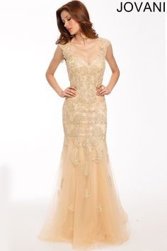 Mermaid Sheer Neckline Dress 23483