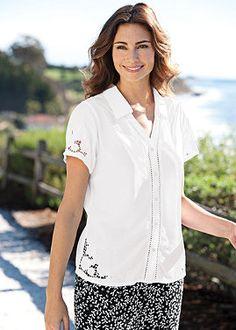 $60  rayon cutwork blouse  normthompson