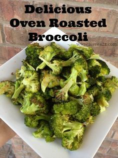 Oven Roasted Caramelized Broccoli Recipe.  Might have already pinned this but tried it tonight.  Very good! 09/08/13