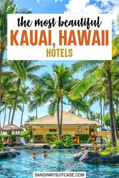 9 Beautiful Hotels in Kauai (Hawaii). Where to stay in Kauai? We've bunked down at these 9 best hotels in Kauai. See our honest reviews, with pros and cons for each! #Kauai #Kauaihotels #Hawaii #luxuryresort #luxuryhotel #hotelreview Cancun Resorts, Mexico Resorts, Vacation Resorts, All Inclusive Resorts, Hotels And Resorts, Marriott Hotels, All Inclusive Vacation Packages, Honeymoon Vacations, Hawaii Honeymoon