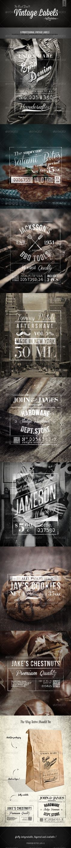Vintage Labels – Volume 1 (Badges & Stickers) | GFX Database