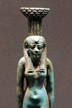 Nephyths or Neferet the sister of Isis, notice the basket on her head? She is the mistress of the household and of my household
