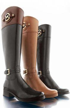 Michael Michael Kors Maisie Leather Stud Boots Shoes