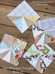 Year of Scrappy Triangles - Block 28
