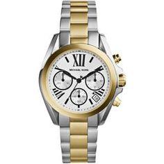 Michael Kors Women's MK5912 Mini Bradshaw Chronograph Two Tone Watch