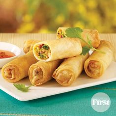 Crunchy Spring Rolls  -- read down for the baked directions