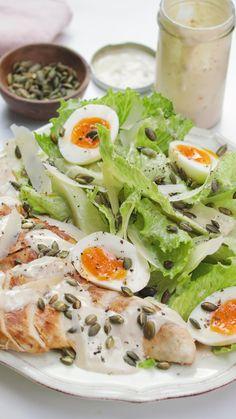 Chicken Caesar Recipe, Chicken Caesar Salad, Chicken Breast Fillet, Boneless Chicken Breast, Salad Recipes, Healthy Recipes, Guilt Free, Soups And Stews, Lighter