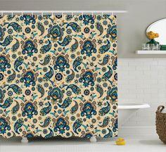 ONLY 3 left - $30 Vintage Floral Pattern with Paisley Print Retro Decor Art Shower Curtain Set  | eBay