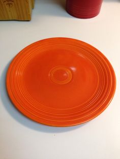 "Vintage Fiesta Fiestaware Red 9"" Plate by thetrendykitchen on Etsy"