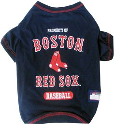 Shop where every purchase helps shelter pets! Boston Red Sox Dog Tee Shirt  - from 32319d693