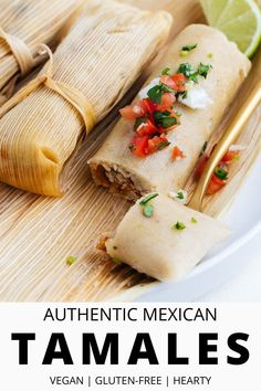 These easy step-by-step instructions will show you how to make tamales vegan, gluten-free, and without any hassle (even if it's your first time). With a simple dough, you can choose any filling to make these delicious antojitos. Some of our favorites are black bean & sweet potato, strawberry, jalapeño cheese, or potato adobo. #tamales #howtomaketamales #vegantamales #nolardtamales #glutenfree Vegan Vegetarian, Vegetarian Recipes, Vegetarian Mexican, Vegan Food, Appetizer Recipes, Dinner Recipes, Side Recipes, Snack Recipes, Appetizers