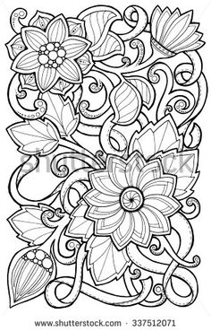 Doodle Background In Vector With Doodles Flowers And Paisley Ethnic Pattern Can Be Used For Wallpaper Fills Coloring Books Pages
