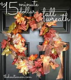 15 Wonderful Fall Wreaths. The Weekly Round Up Series.   Titicrafty by CamilaTiticrafty by Camila