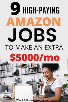 Check out these Amazon jobs from home to earn money. Amazon Work From Home, Legit Work From Home, Legitimate Work From Home, Work From Home Jobs, Online Job Opportunities, Amazon Jobs, Customer Service Jobs, Companies Hiring, Work From Home Companies