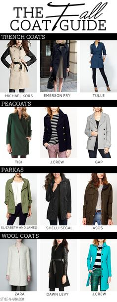 STYLE'N-a personal style blog - STYLE'N - The Fall Coat Guide