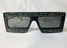 f6e8af7ff62 Authentic New Gucci Mask-frame acetate Sunglasses GG0431S C01 Black Gray  Lens  fashion