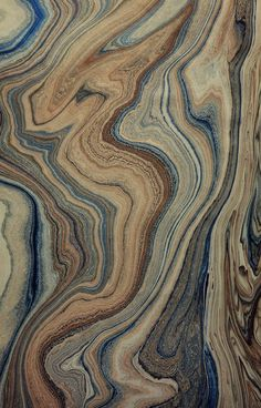 Marbled paper by Hikmet Barutcugil of Turkey.