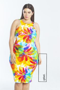 Grisel. Multi Color Bodycon Dress. Fashion. Plus Size Fashion .