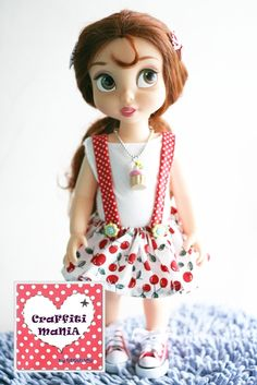As I am falling in love with these Disney Animator's Doll, I really want to make a beautiful dress for them. Here are some of my crafts. The dress has sold in Craffiti Mania brand (my own brand). Please visit https://www.facebook.com/CraffitiMania