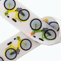 Retro Vintage Vibe Bicycles Themed Grosgrain by scrapwithstyle, $1.50