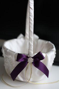659 best flower girl baskets images on pinterest wedding baskets plum flower girl basket lace wedding basket ivory plum wedding plum wedding basket ivory plum basket wedding ceremony basket mightylinksfo