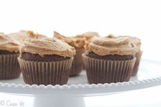 Chocolate Cupcakes with Peanut Butter Frosting (Grain-Free, Paleo Adaptation Included) - Deliciously Organic paleo dessert peanut butter