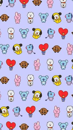 bts wallpaper Para Amigas is part of - All of this lovely characters are together this is beautiful!