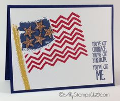 American Flag with Work of Art by alystamps - Cards and Paper Crafts at Splitcoaststampers