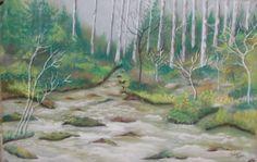 Szántó Ágnes  Porpasztell  Patak Aquarium, Painting, Art, Aquarius, Fish Tank, Painting Art, Paintings, Kunst, Paint